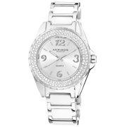Women's Quartz Mineral-Crystal Ceramic White Bracelet Watch with FREE Bangle