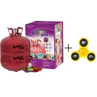 Balloon Time Disposable Helium Tank 14.9 cu.ft - 50 Latex Balloons + Curling Ribbon + Fidget Spinner (BONUS)