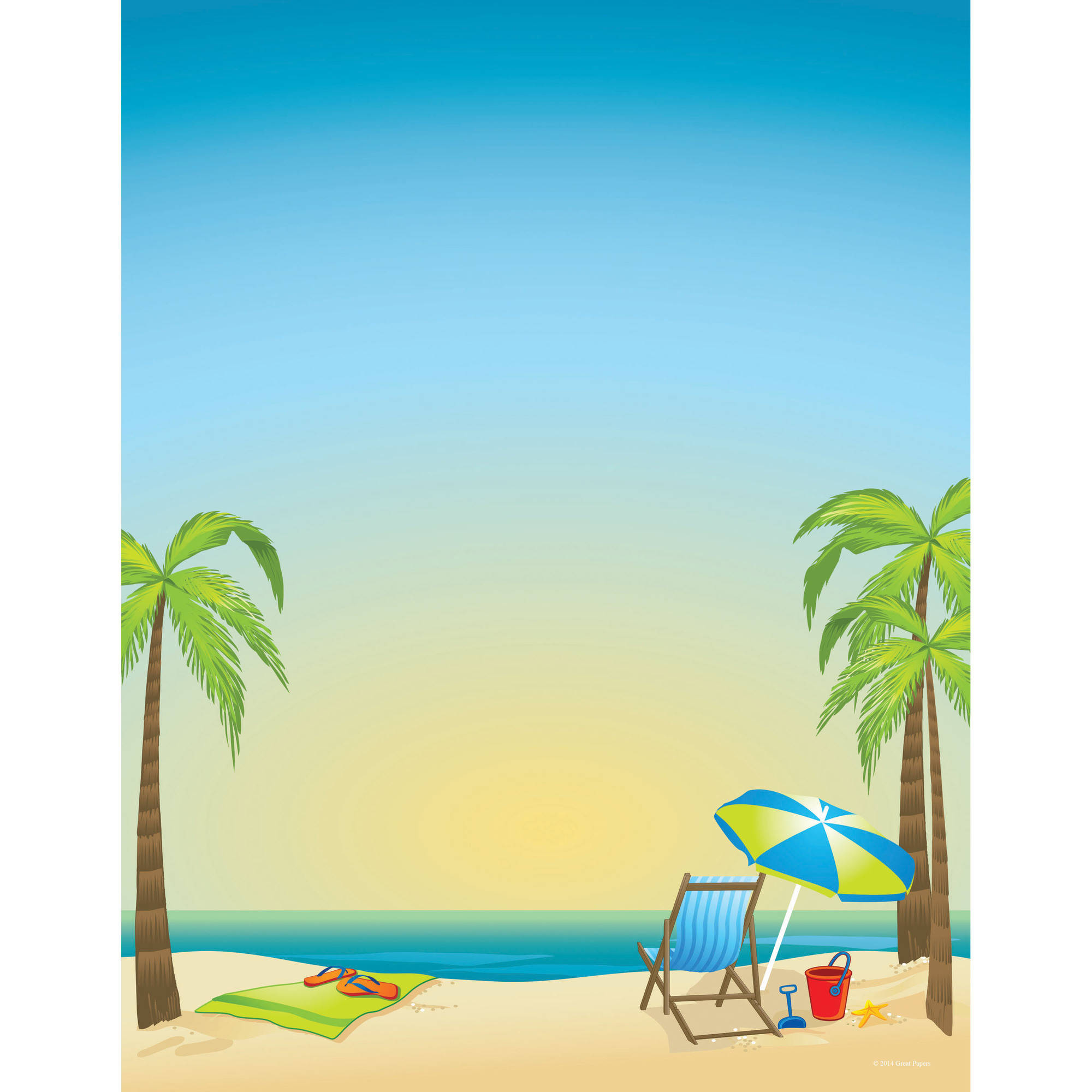 great papers by the beach letterhead 80ct walmart com