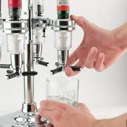 6 Bottle Bar Caddy Liquor Dispenser Chrome Finish Image 3 Of