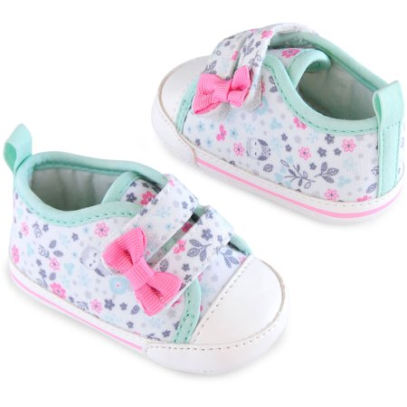 4f5d619e44 Child of Mine by Carter's - Newborn Baby Girl Sneakers, NB - Walmart.com