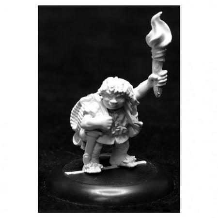 Reaper Miniatures REM07018 Dungeon Dwellers - Gus Greenweevil, Halfling - Figures Dungeon Dweller Props Wall