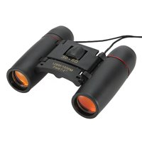 30x60 Day Night Vision Binoculars Mini Pocket Binoculars Folding Multi-Coated Waterproof Small Telescope with Bag for kids Adults Outdoor Travel Black