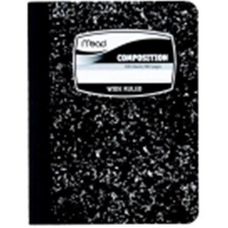 Mead Composition Book Mead Square Deal Black Marble Wide-Ruled, 100 Sheet