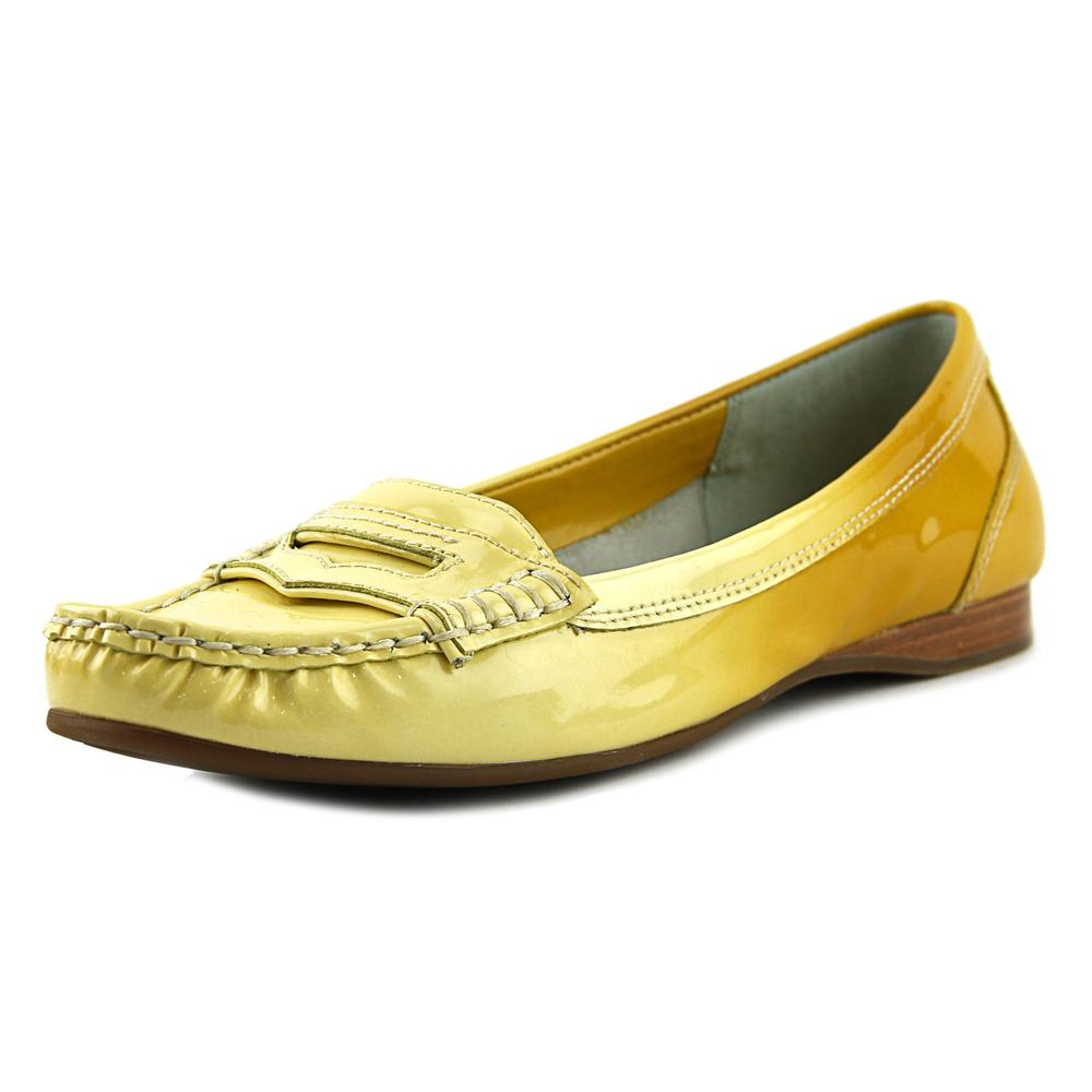 Franco Sarto L-Keen Women Moc Toe Leather Yellow Loafer by Franco Sarto