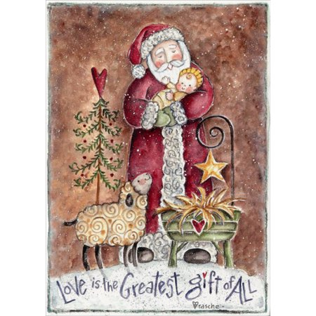 LPG Greetings Love Is the Greatest Gift of All Religious Christmas Card