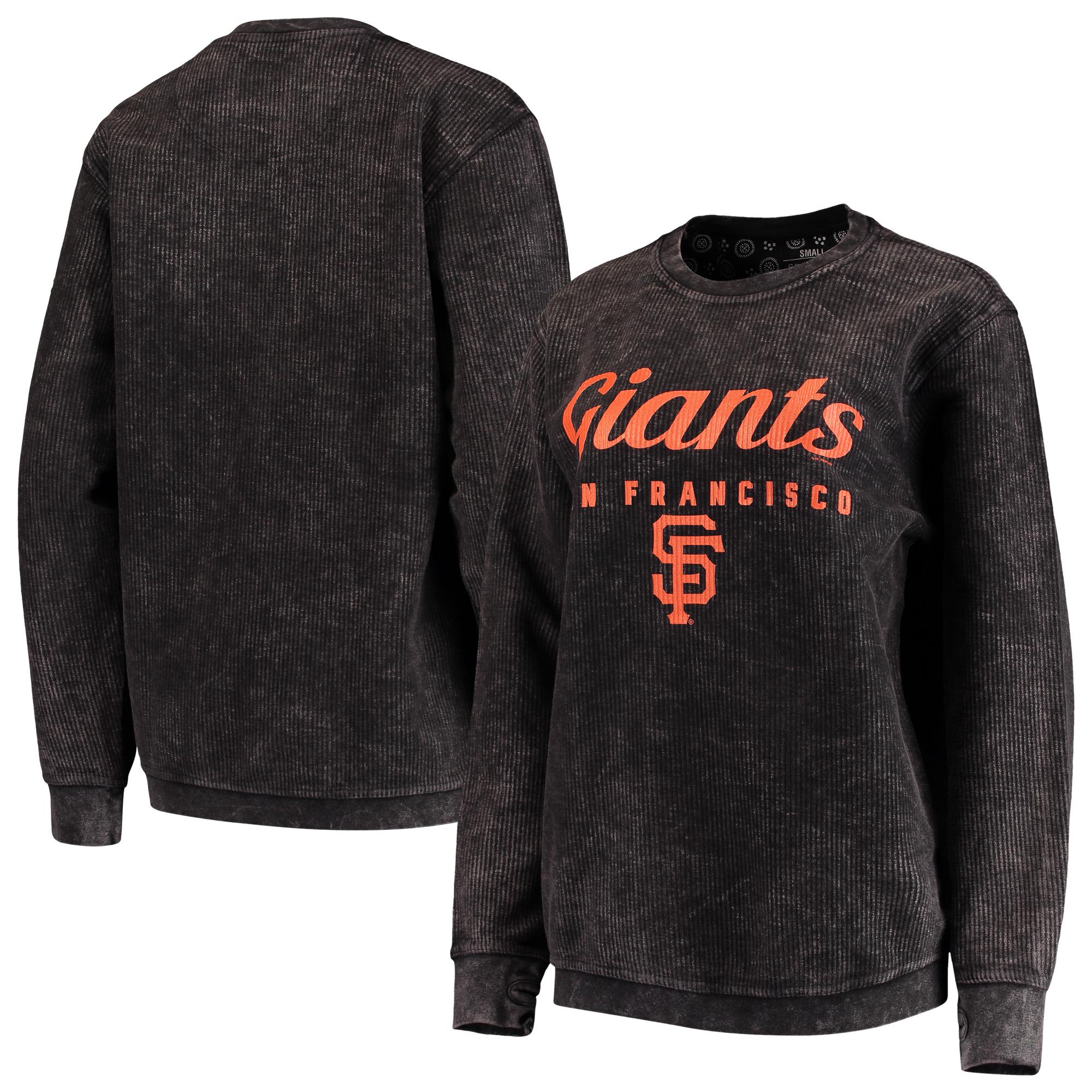 San Francisco Giants G-III 4Her by Carl Banks Women's Comfy Cord Pullover Sweatshirt - Black