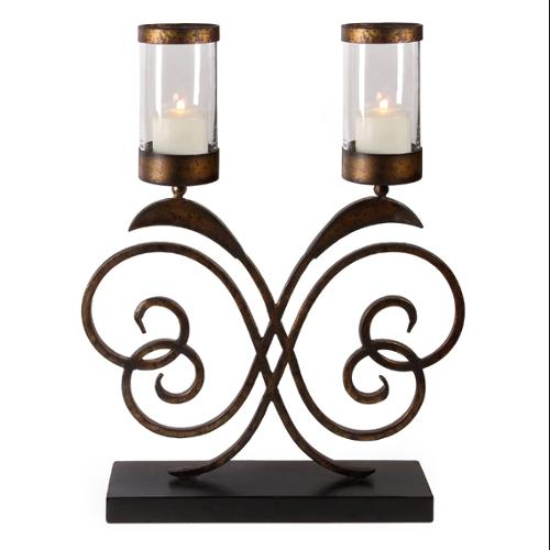 """27"""" Classic European-Style Double Hurricane Candle Holder"""