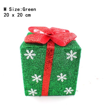 green snowflakes lighted gift boxes christmas yard art seasonal decoration not included led light - Lighted Gift Boxes Christmas Decorations