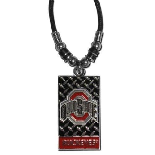 NCAA Ohio State Buckeyes Diamond Plate Rope Necklace, 20-Inch