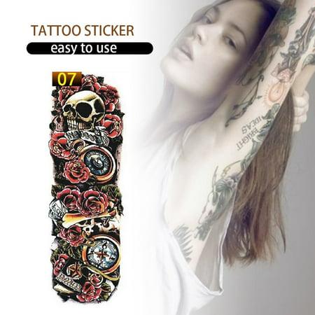 1pcs Full Arm Flower Tattoo Sticker Waterproof Temporary Tattoo Sleeve Men Women Body Paint Water Transfer Fake Tatoo Sleeve Walmart Canada