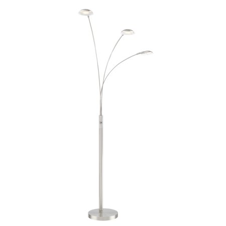 "Lite Source LS-83298 Lennie 3 Light 65"" Tall Integrated LED Arc and Tree Floor Lamp"