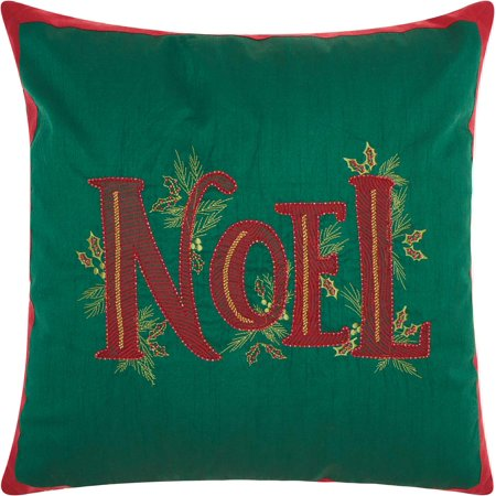 Nourison Christmas Beaded Noel Green Throw - Cheap Throw Beads