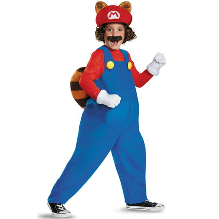 Super Mario Brothers Raccoon Deluxe Costume for Kids](Super Deluxe Costumes)