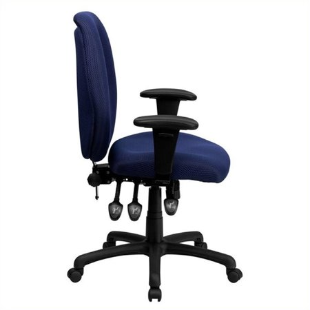 Scranton & Co High Back Multi-Functional Office Chair in Navy - image 1 of 2