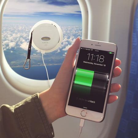 GreenLighting NEW White 6000 mAh External Battery Pack Solar Power Phone Charger