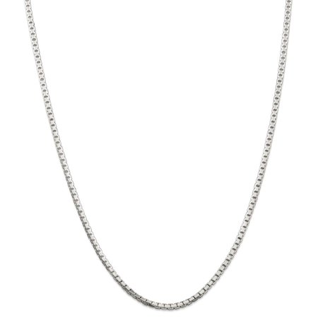 (ICE CARATS 925 Sterling Silver 2.5mm Link Box Chain Necklace 20 Inch Pendant Charm Octagonal Fine Jewelry Ideal Gifts For Women Gift Set From Heart)