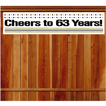 Birthday Decoration Items (Item#063CIB 63rd Birthday / Anniversary Cheers Wall Decoration Indoor / OutDoor Party Banner (10 x)