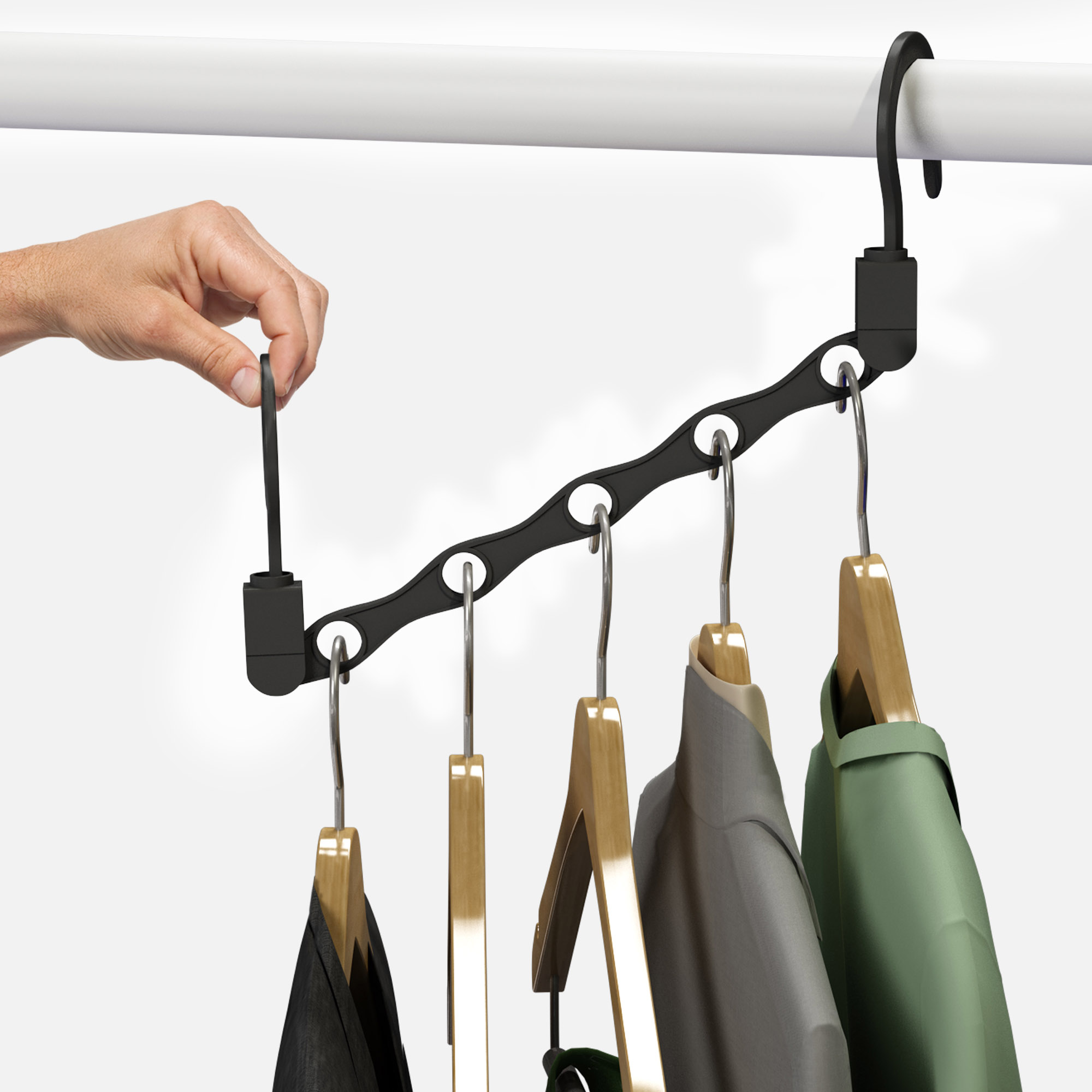 Space Saving Closet Organization Vertical And Horizontal Multi Standing Hanger Multifunction Stand For Shirts Pants Coats All Your Dorm Room Essentials By Everyday Home