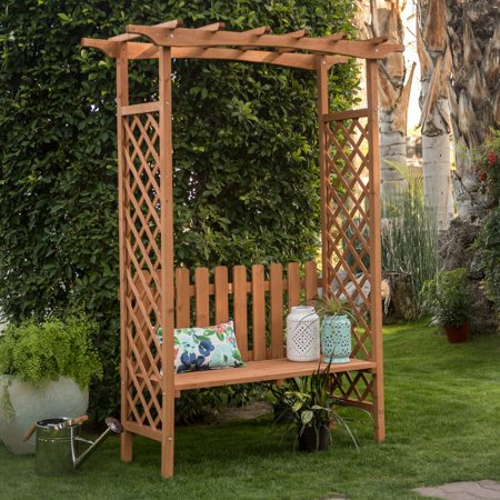 Remarkable Coral Coast Dalton 6 9 Wood Arbor With Bench Pdpeps Interior Chair Design Pdpepsorg