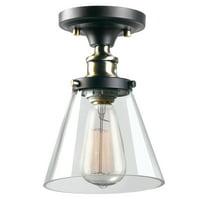 03089cffa61 Product Image Globe Electric Jackson 1-Light Dark Bronze Flush Mount Ceiling  Light