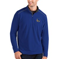 Golden State Warriors Antigua Glacier Quarter-Zip Pullover Jacket - Royal/Gray