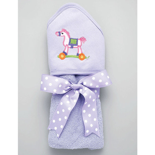 AM PM Kids! Pink Pony Hooded Towel