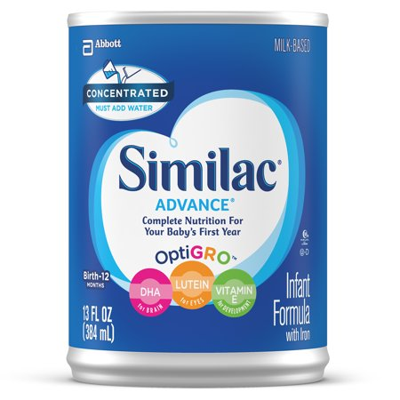 Similac Advance 20 Infant Formula with Iron, Concentrated Liquid, 13 fl oz (Pack of 12) -  Abbott Laboratories,ABBN7, 0007007456973