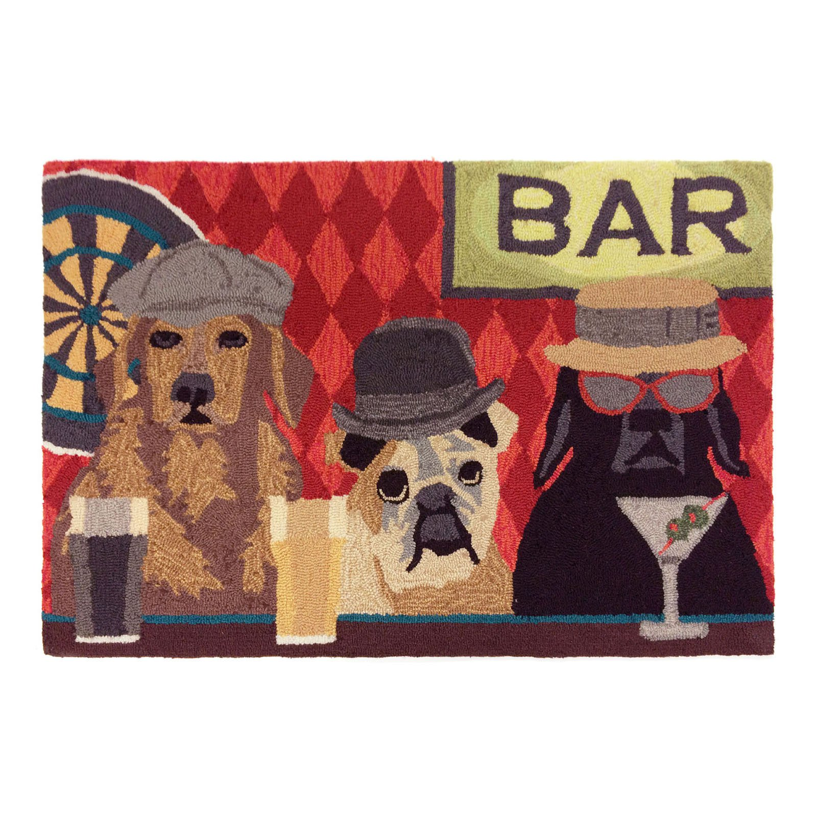 Liora Manne Frontporch 1809/37 Bar Patrol Port Area Rug 20 Inches X 30 Inches