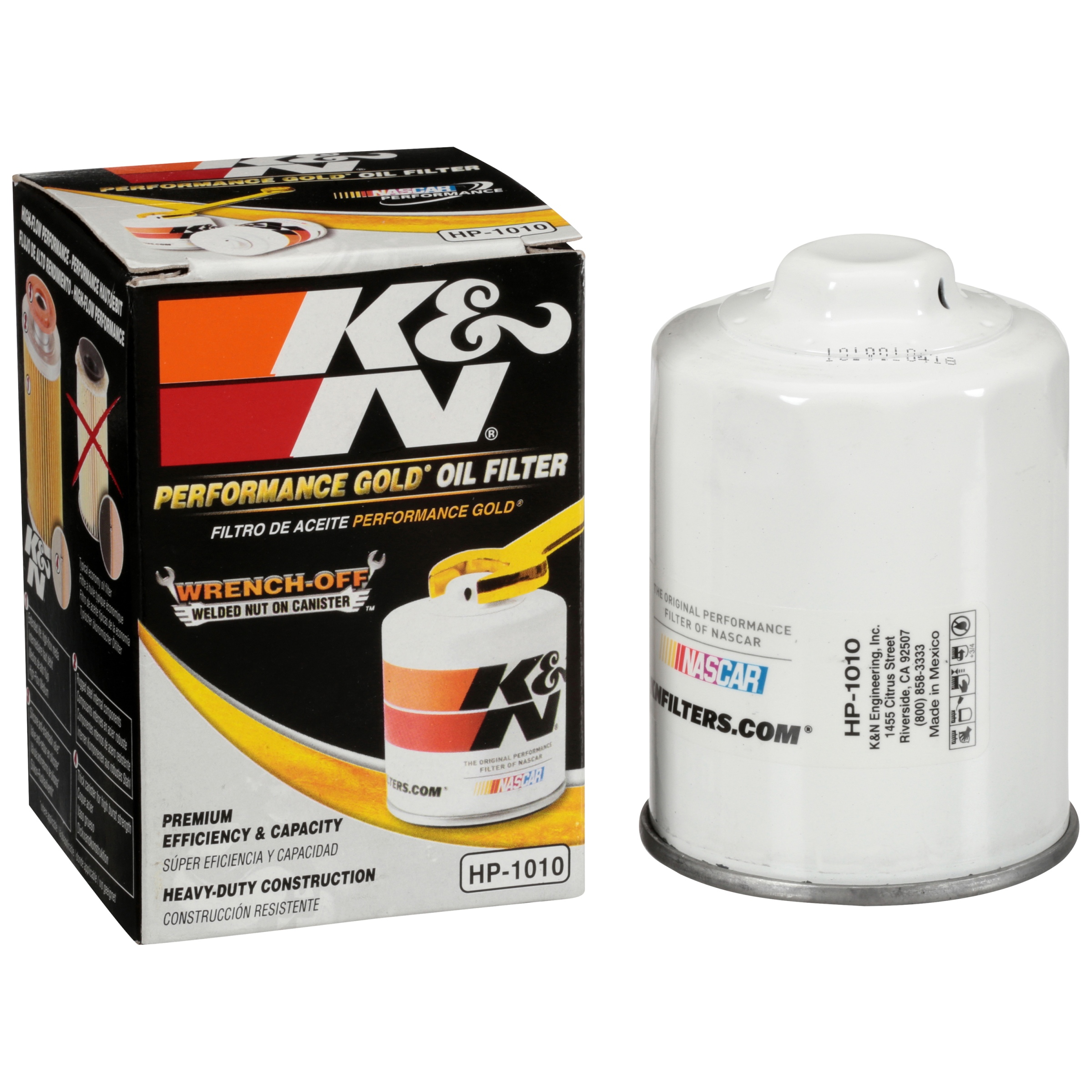 K&N® Performance Gold® HP-1010 Oil Filter Box