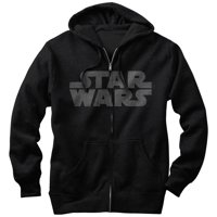 Star Wars Men's Simple Logo Zip Up Hoodie