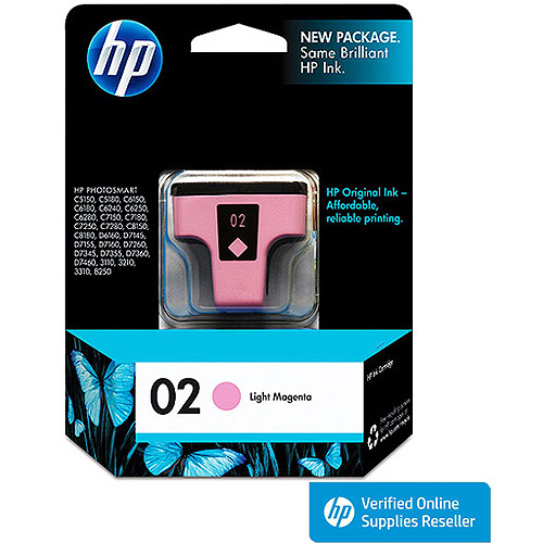 HP 02 Light Magenta Inkjet Cartridge (C8775WN)