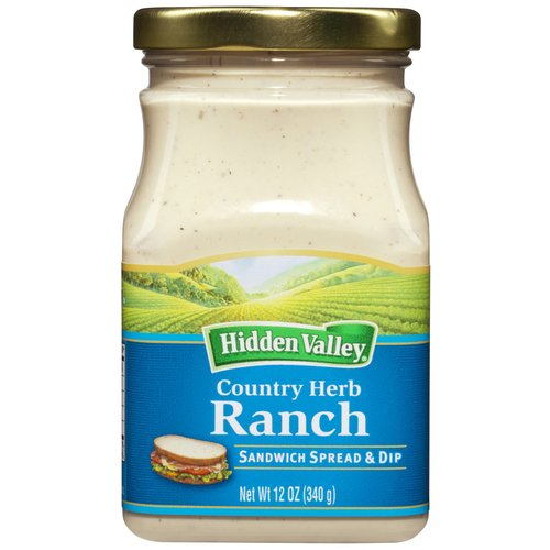 Hidden Valley Sandwich Spread and Dip, Country Herb Ranch, 12 Ounces