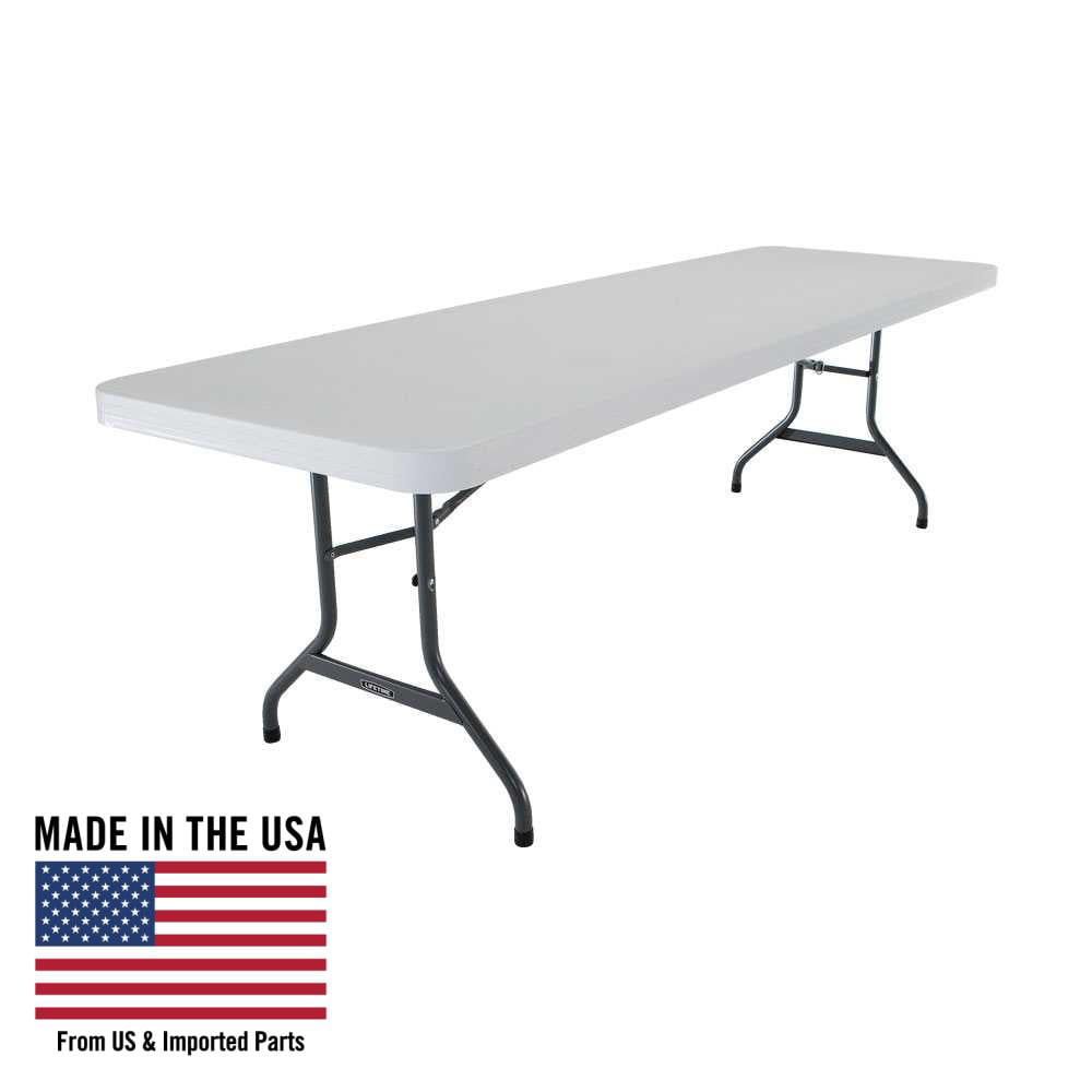 - Lifetime 8-Foot Commercial Folding Table White, 22980 - Walmart