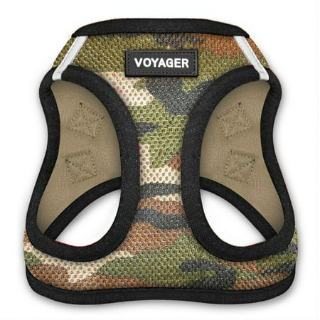 Voyager All Weather Step-in Mesh Harness for Dogs by Best Pet Supplies - Army Base, Large