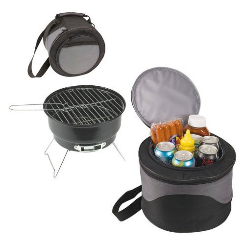 Koolulu Portable Charcoal Grill with Cooler Storage Case