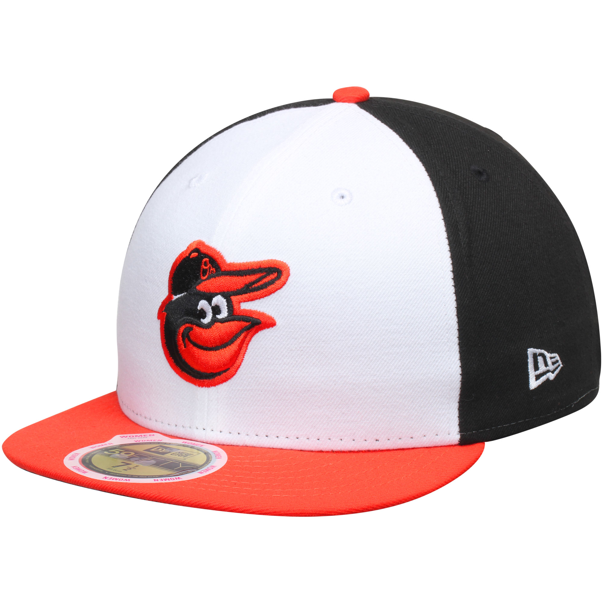 Baltimore Orioles New Era Women's Authentic Collection On-Field 59FIFTY Fitted Hat - Black/Orange