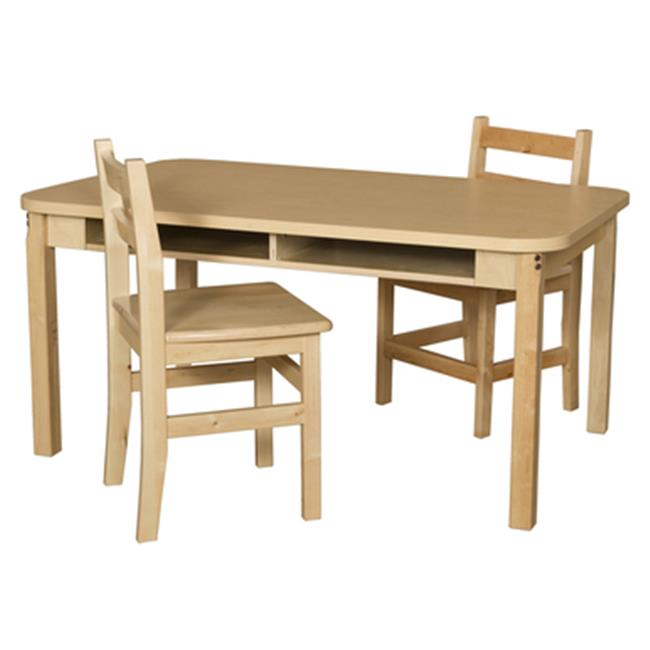 Wood Designs 3648DSKHPL22 Four Seat Student Desk with 22 inch Hardwood Legs