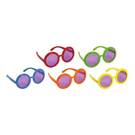 Groovy 60's Party Assorted Colors 60's Sunglasses (10 Pack), Multi Color, 13 x 6.4, Features large round circle lenses with brightly-colored (Thirteen Sunglasses)