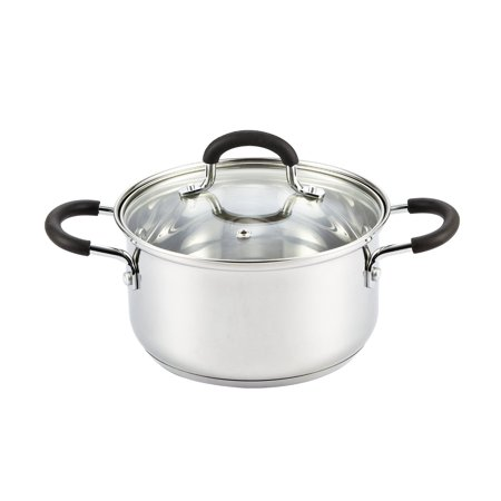 Cook N Home 2.7 Quart Stainless Steel Casserole with (Ceramic Steel Casserole)