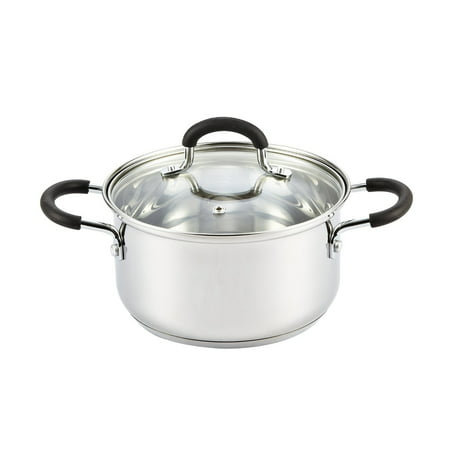 Cook N Home 2.7 Quart Stainless Steel Casserole with Lid 4 Qt Stainless Covered Casserole