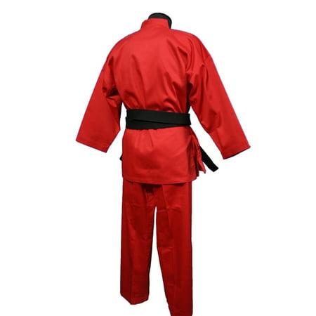 Medium Weight Color Karate Uniform, Red 10 Ounce Karate Uniform