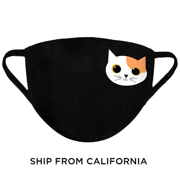 Awkward Styles Cat Print Mask Cat Owners Mask Reusable Face Mask