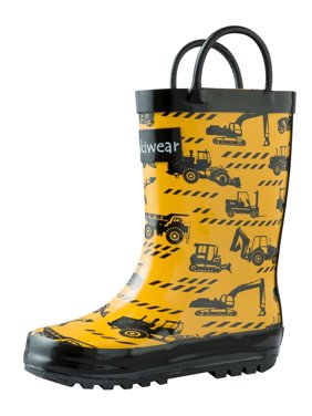 99c8cc3c2 Product Image Oakiwear Kids Rain Boots For Boys Girls Toddlers Children,  Construction Vehicles