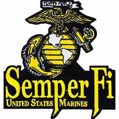 USMC MARINE CORPS SEMPER FI PATCH EAGLE GLOBE ANCHOR EGA FIDELIS DEVIL DOG