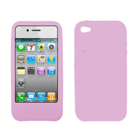 Premium Light Purple Silicone Gel Skin Cover Case for AT&T Apple iPhone 4 [Accessory Export Brand