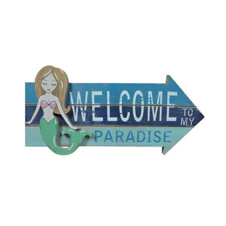 Paradise Plaque - Beachcombers Welcome to My Paradise Plaque - Mermaid Design