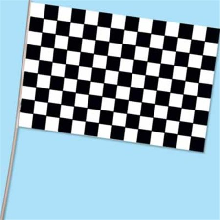 Beistle - 50977 - Checkered Flag - Plastic- Pack of 144