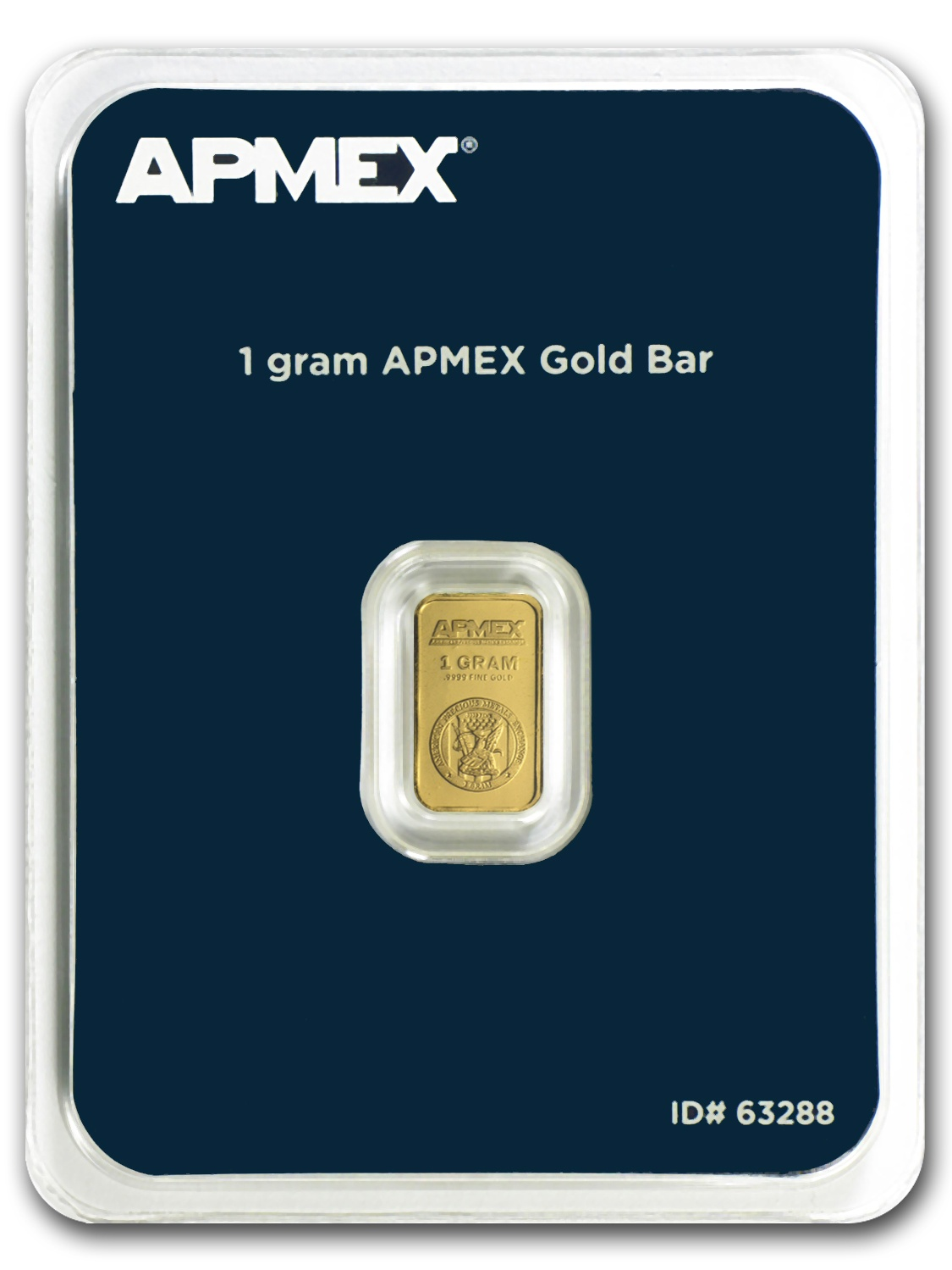 1 gram Gold Bar - APMEX (In TEP Package)