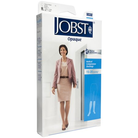 Women's Opaque 15 20 Mmhg Open Toe Knee High Support Stocking Size X Large (Compression Socks For Nurses 15 20 Mmhg)